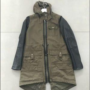 Jackets & Blazers - Army Green John + Jenn Coat